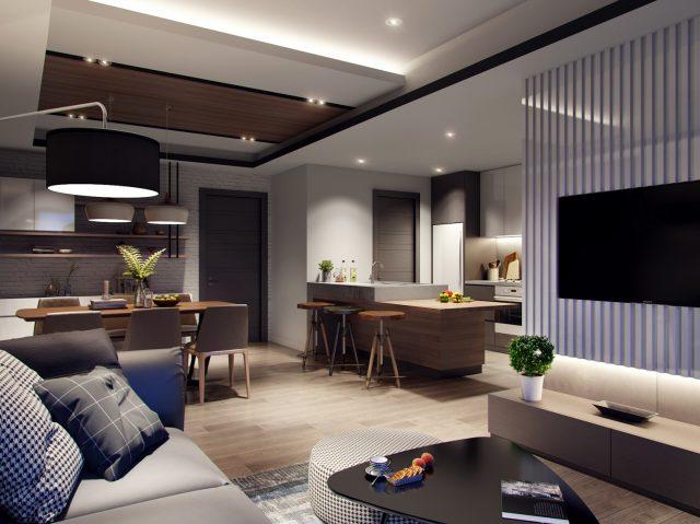 thiết kế phòng khách chung cư nhỏ 5