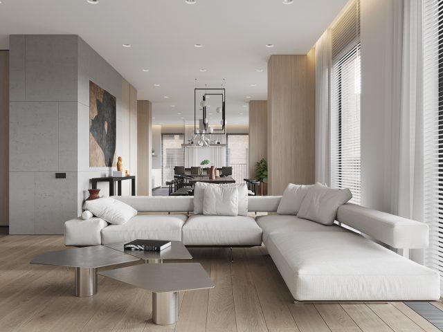 thiết kế chung cư 90m2 3 phòng ngủ
