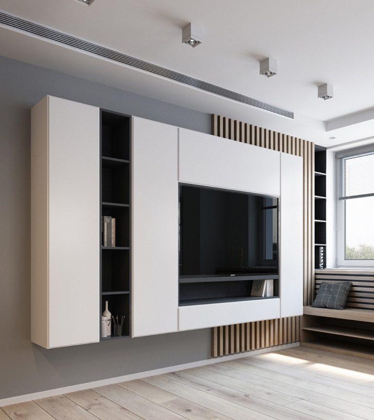 thiết kế nội thất chung cư 70m2 2 phòng ngủ
