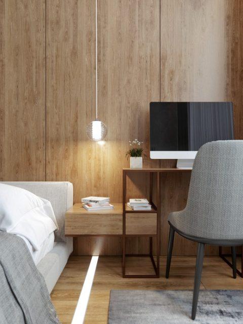 thiết kế chung cư 50m2 2 phòng ngủ