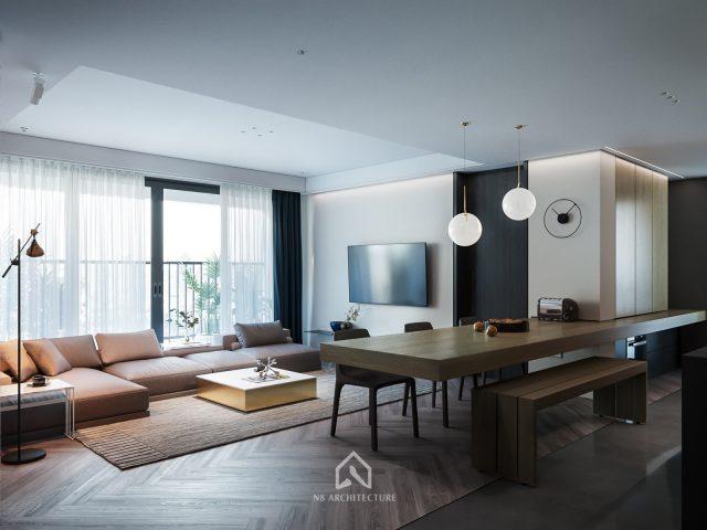 thiết kế nội thất chung cư D Capitale 2