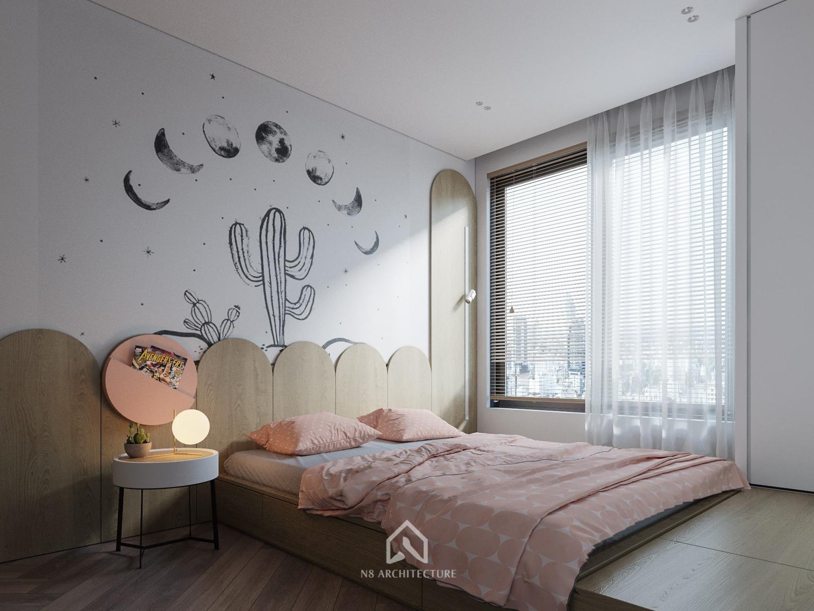 Thiết kế nội thất phòng ngủ con chung cư D Capitale Vinhomes Trần Duy Hưng 1