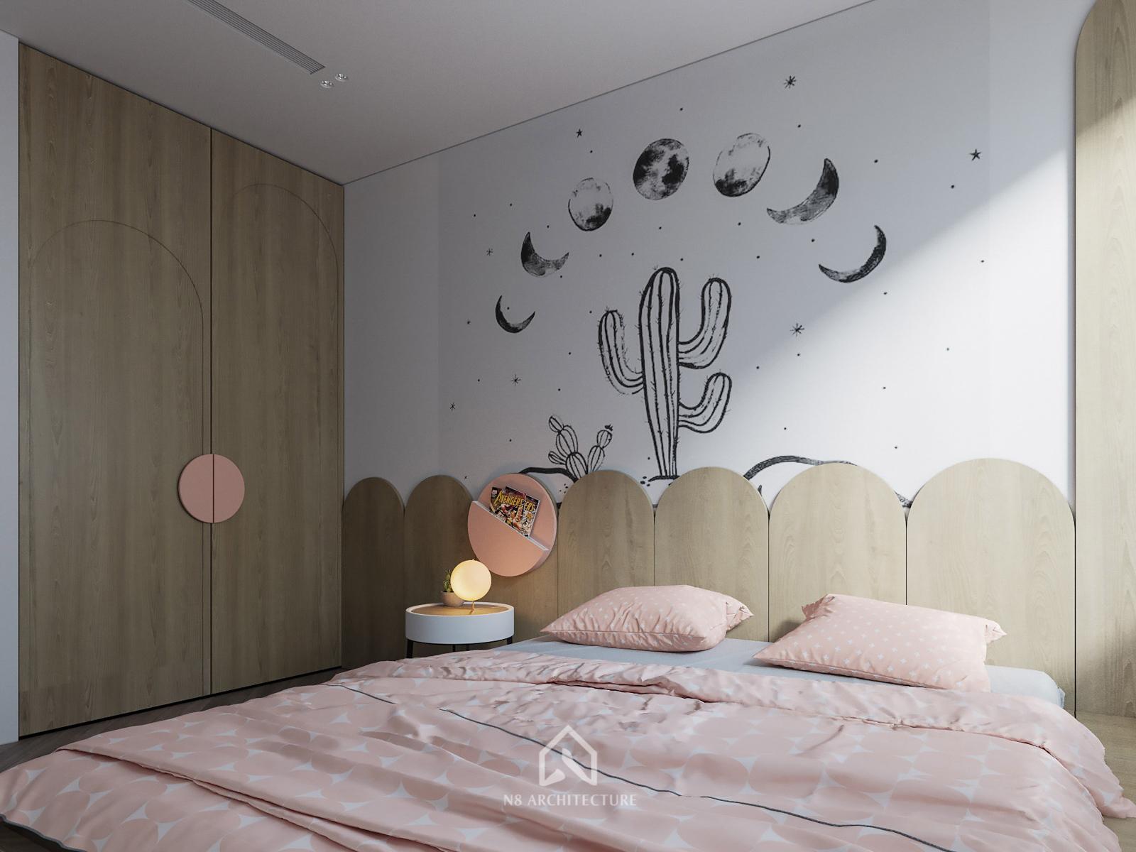 Thiết kế nội thất phòng ngủ con chung cư D Capitale Vinhomes Trần Duy Hưng 2