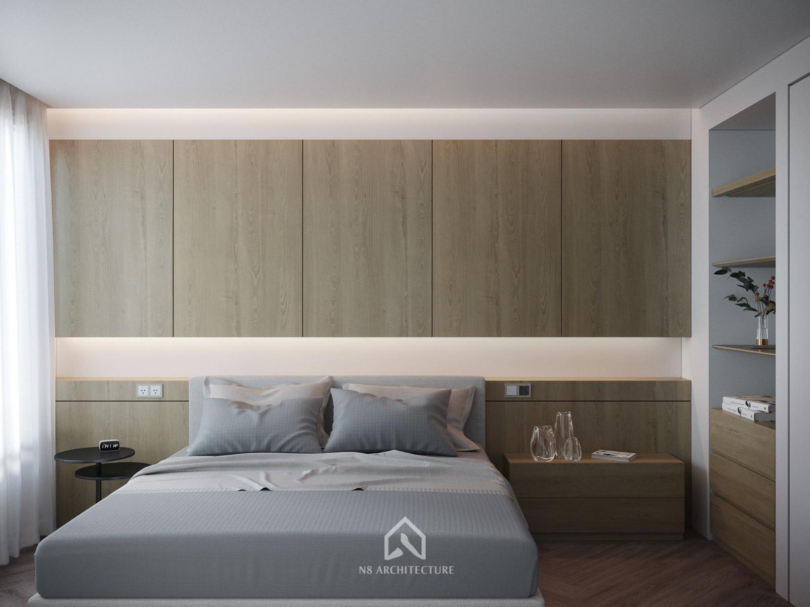 Thiết kế nội thất phòng ngủ 2 chung cư D Capitale Vinhomes Trần Duy Hưng 2