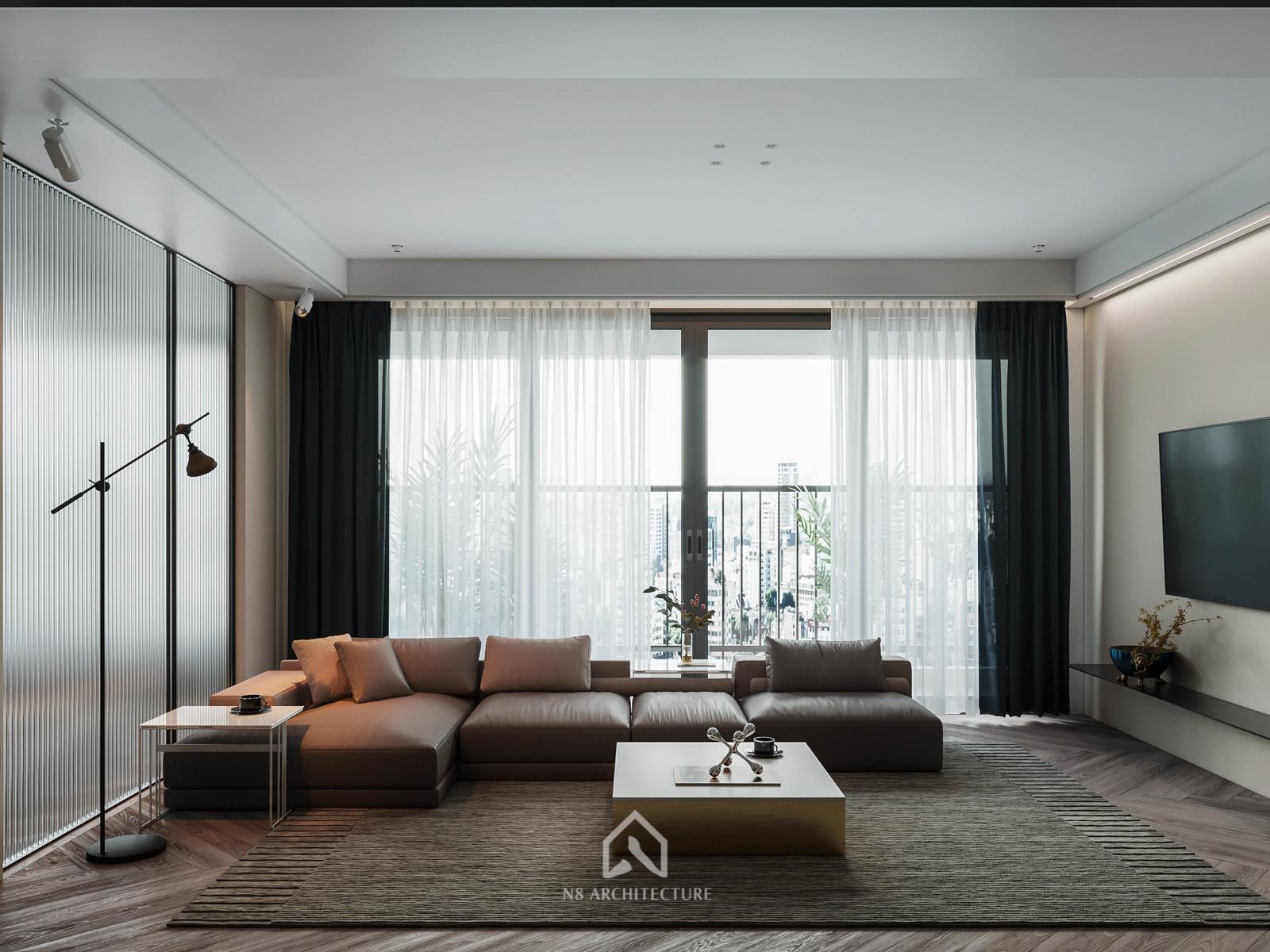 Thiết kế nội thất phòng khách chung cư D Capitale Vinhomes Trần Duy Hưng