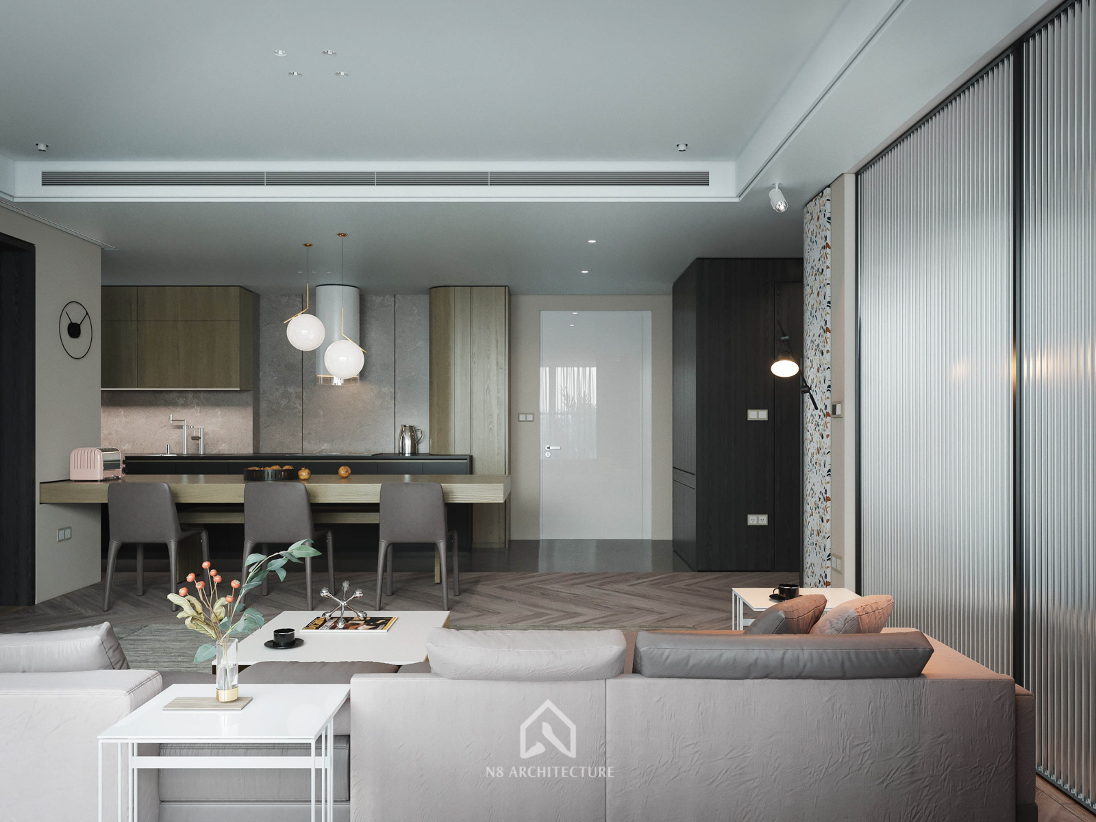 Thiết kế nội thất phòng khách chung cư D Capitale Vinhomes Trần Duy Hưng 2