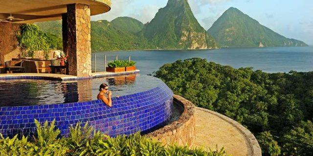 biệt thự Jade Mountain St Lucia