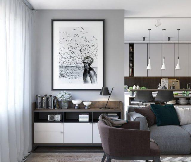 thiết kế phòng khách chung cư hiện đại