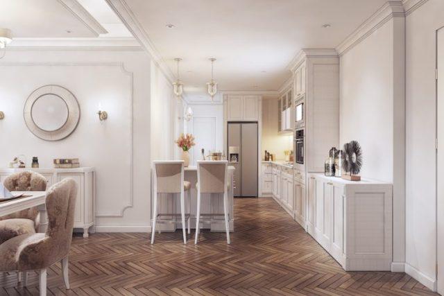 thiết kế chung cư phong cách tân cổ điển