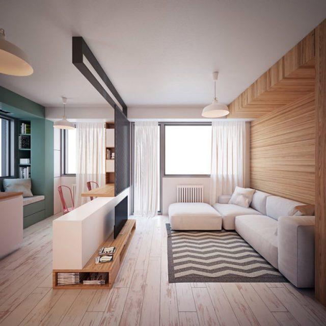 Mẫu thiết kế phòng khách nội thất chung cư diện tích nhỏ số 10