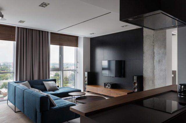 thiết kế nội thất phòng khách chung cư hiện đại 1
