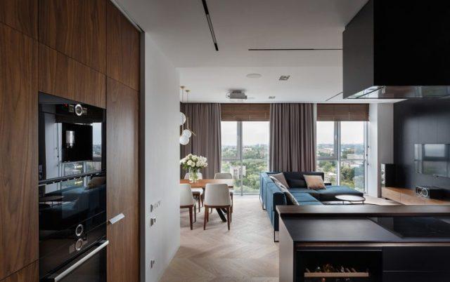 thiết kế nội thất phòng khách chung cư hiện đại 2