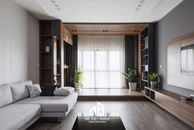 thiết kế tủ thờ phòng khách chung cư