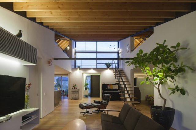 trần nhà kiến trúc nhật bản