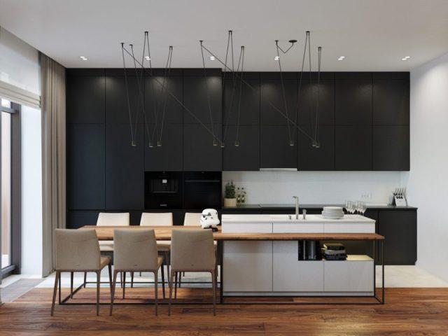 thiết kế phong bếp chung cư 2 phòng ngủ 2
