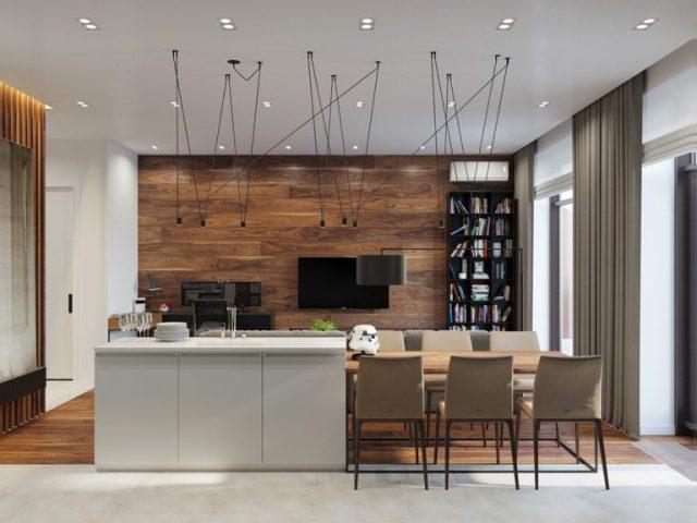 thiết kế phong bếp chung cư 2 phòng ngủ 4