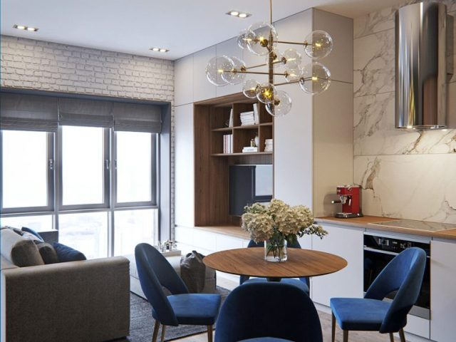 mẫu thiết kế nội thất chung cư nhỏ 4