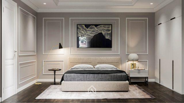 thiết kế nội thất phòng ngủ biệt thự tân cổ điển Ninh Bình 5