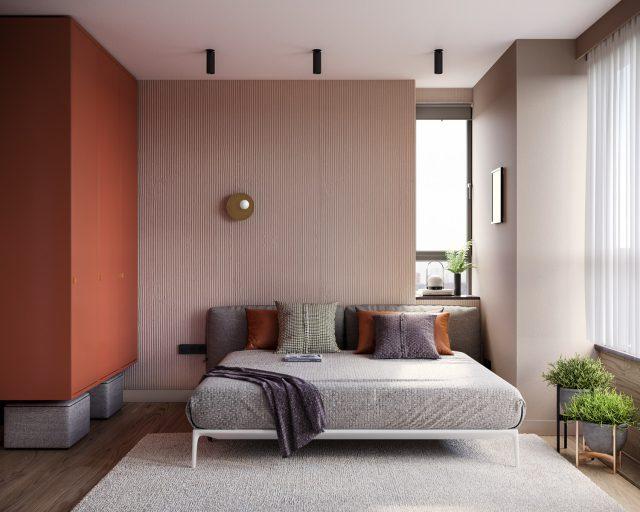 thiết kế nội thất chung cư 2 phòng ngủ 4