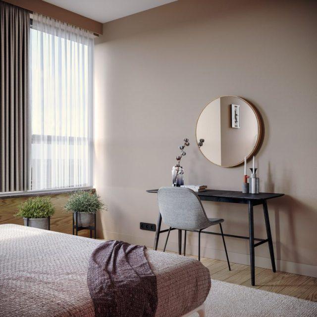 thiết kế nội thất chung cư 2 phòng ngủ 5