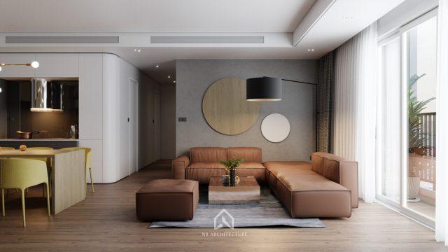 thiết kế nội thất phòng khách chung cư seasons avenue