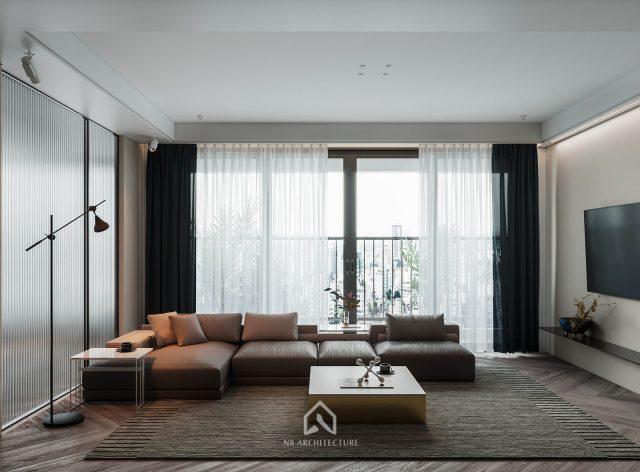 thiết kế nội thất phòng khách chung cư D Capitale 3