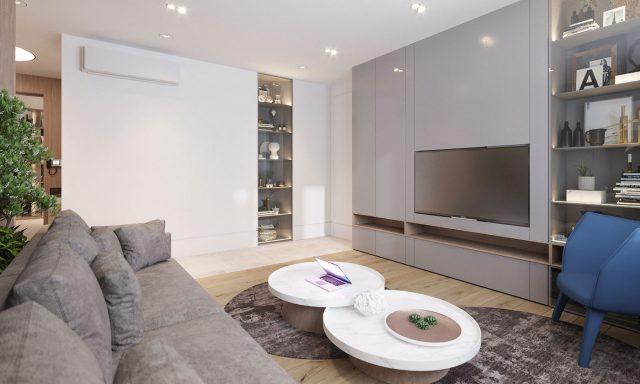 mẫu phòng khách chung cư nhỏ 3