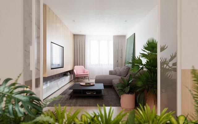 mẫu thiết kế nội thất chung cư đẹp 16