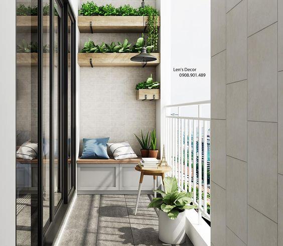 thiết kế vườn hoa ban công chung cư 2