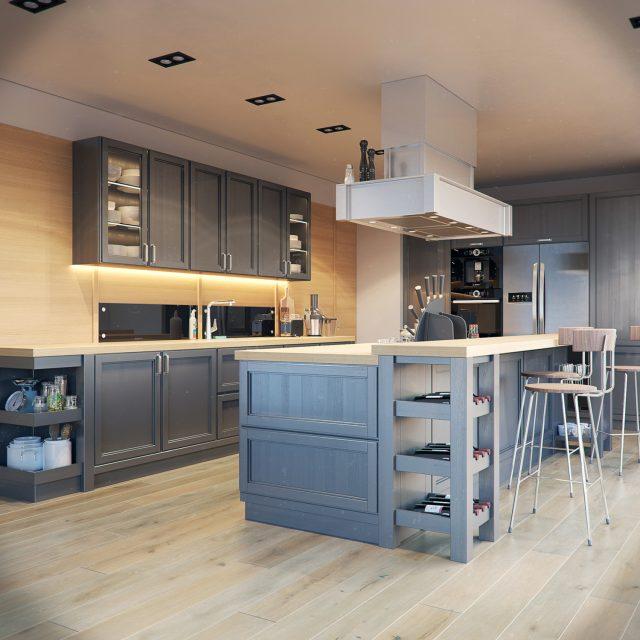 thiết kế bếp cho nhà chung cư 3
