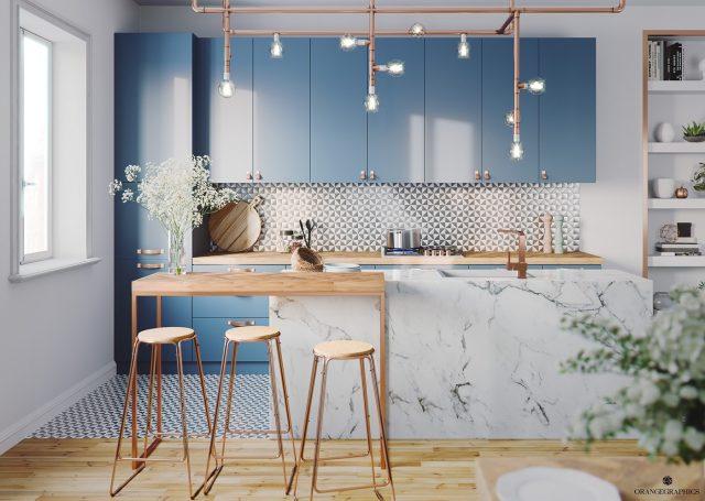 thiết kế bếp chung cư 2