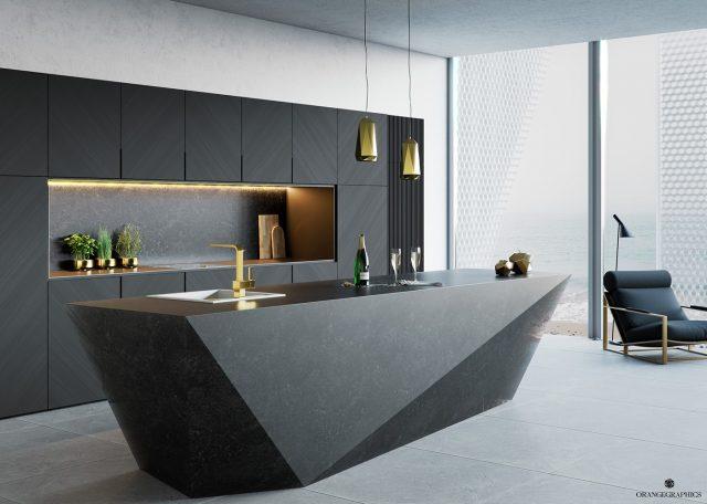 thiết kế bếp chung cư 3