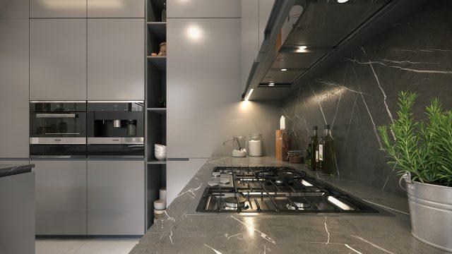 thiết kế bếp đẹp cho chung cư