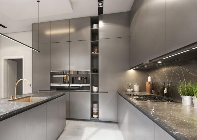 thiết kế bếp đẹp cho chung cư 3