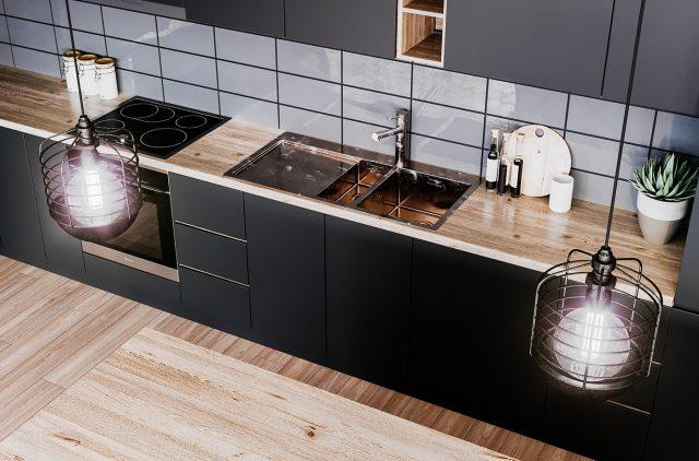 thiết kế nội thất bếp chung cư 2