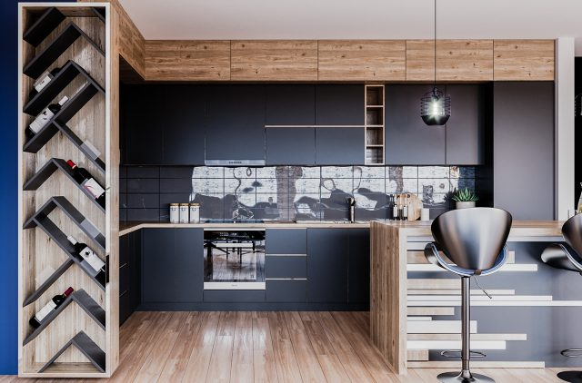 thiết kế nội thất bếp chung cư 3