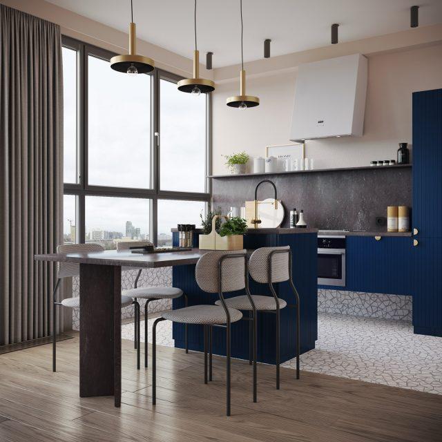 thiết kế nhà chung cư 2 phòng ngủ