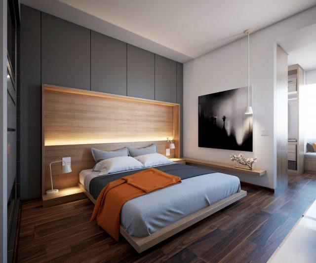 thiết kế nội thất phòng ngủ chung cư 3