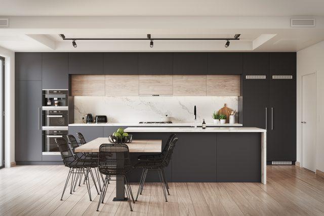 thiết kế phòng bếp chung cư 6