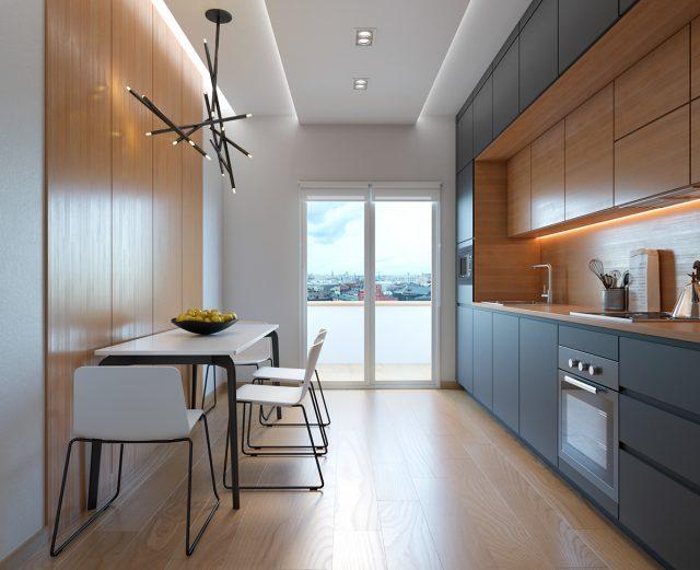 thiết kế phòng bếp chung cư 2