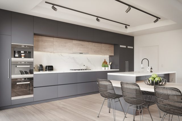 thiết kế phòng bếp chung cư 4
