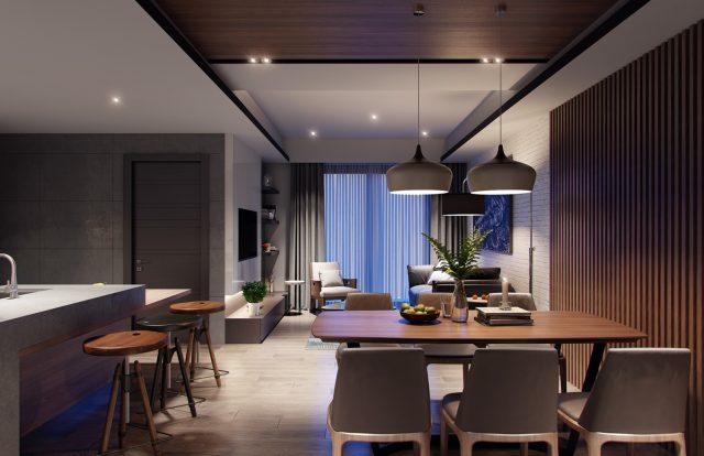 thiết kế phòng khách chung cư nhỏ 4