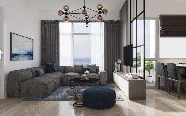 thiết kế nội thất phòng khách chung cư nhỏ 2