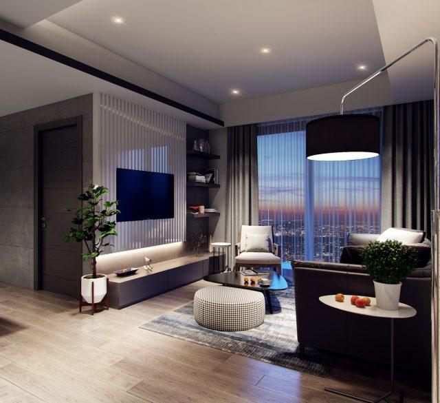 thiết kế phòng khách chung cư nhỏ 8
