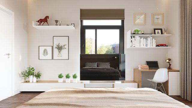 thiết kế phòng ngủ chung cư đẹp 2