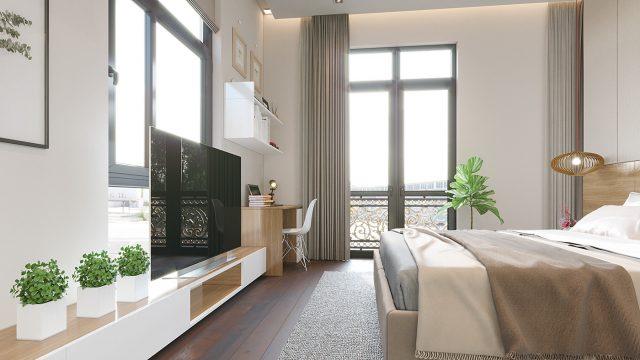 thiết kế phòng ngủ chung cư đẹp 3
