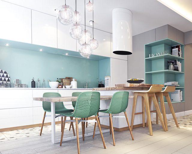 thiết kế tủ bếp cho căn hộ chung cư