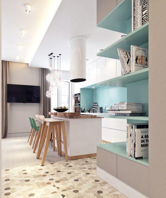 thiết kế tủ bếp cho căn hộ chung cư 2