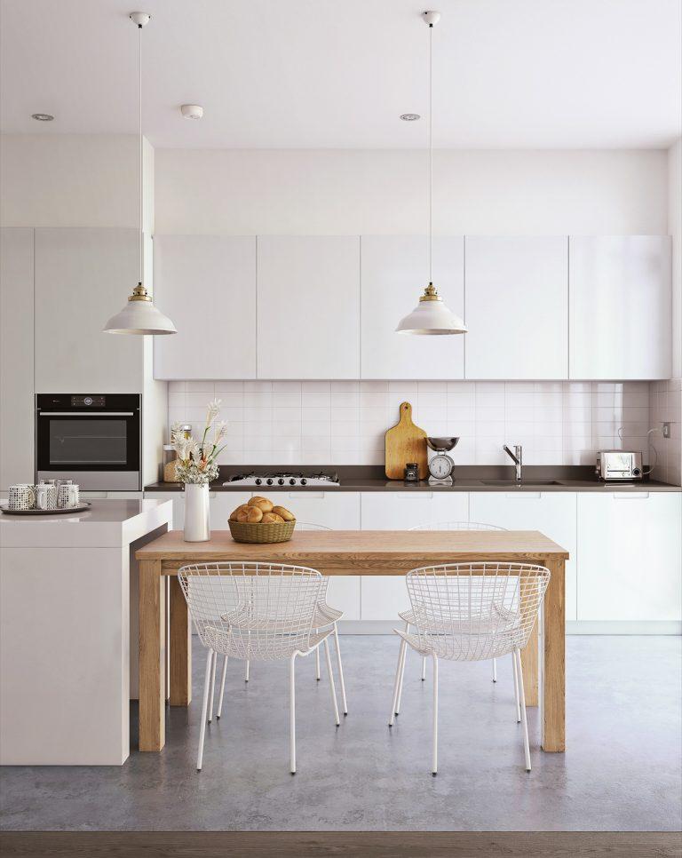 thiết kế tủ bếp cho nhà chung cư 2