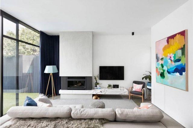 trang trí phòng khách căn hộ chung cư